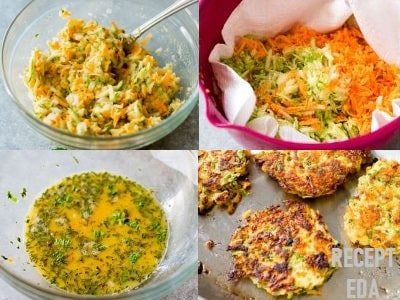драники из кабачков и картошки с чесноком рецепт
