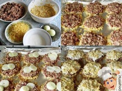 драники в духовке с сыром, драники с мясом в духовке