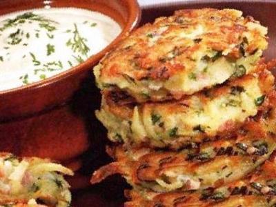 драники с ветчиной и сыром