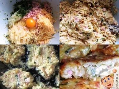 драники картофельные с ветчиной, рецепт