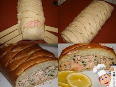 дрожжевой пирог с рыбой рецепт