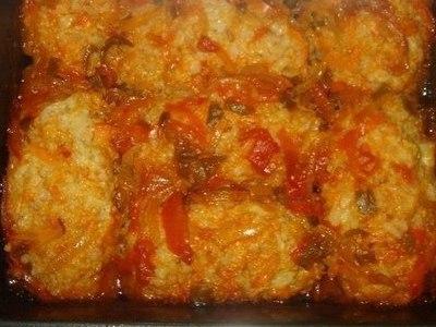 мясные ежики с рисом, рецепт в духовке