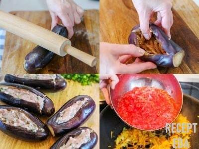 фаршированные баклажаны в духовке рецепт