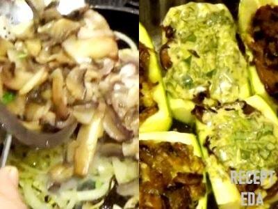 фаршированные кабачки с грибами рецепт