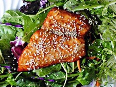 апельсиновый лосось, запеченный в духовке