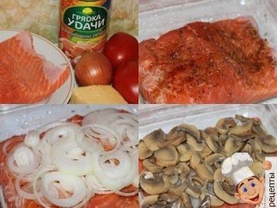 форель в духовке с помидорами