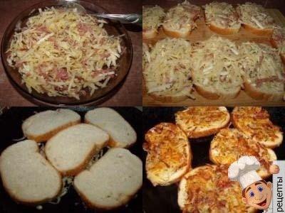 горячие бутерброды с картофелем и колбасой