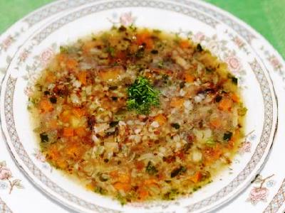 Грибной суп с гречкой, рецепт