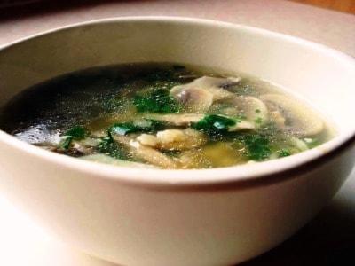 грибной суп из шампиньонов постный