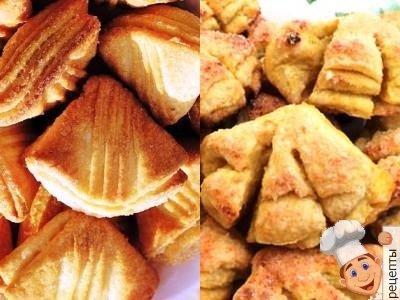 гусиные лапки печенье из творога