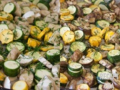 кабачки с баклажанами запеченные в духовке диетический рецепт