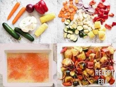 кабачки в духовке с овощами рецепты