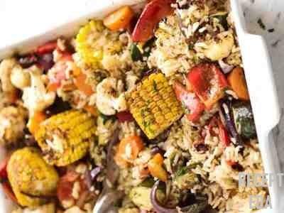 кабачки в духовке с овощами