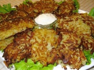 Драники картофельные с чесноком, рецепт
