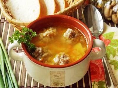 Гороховый суп с фрикадельками, рецепт