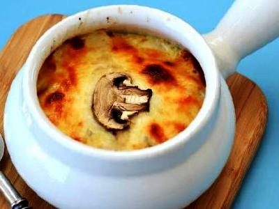 Грибной жульен, рецепт жульена грибного со сметаной