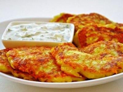 Кабачковые оладьи с сыром рецепт, чесноком