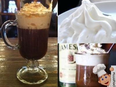 как приготовить кофе с коньяком и взбитыми сливками