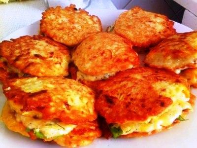 оладьи из кабачков с сыром и зеленью