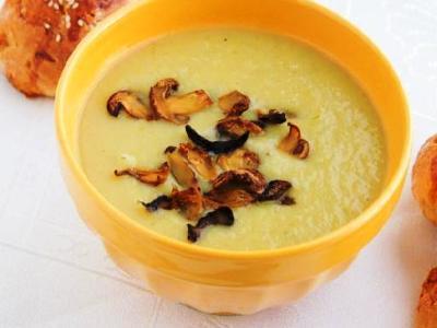 Картофельный суп пюре с грибами шампиньонами и сливками