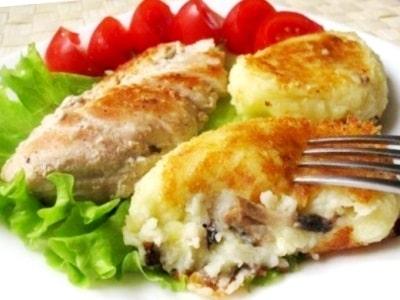 Зразы картофельные с грибами, как приготовить вкусно