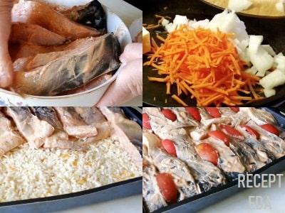 карп с рисом в духовке рецепт