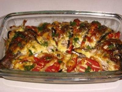 рецепт карпа запеченного духовке овощами