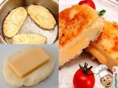 картофельные котлеты с сыром в панировке