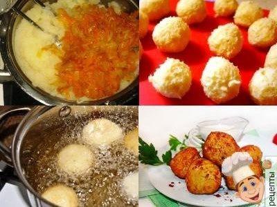 шарики из картофельного пюре обжаренные во фритюре