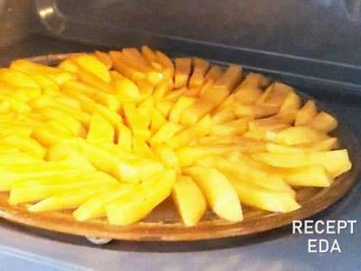 Картошка фри в микроволновке