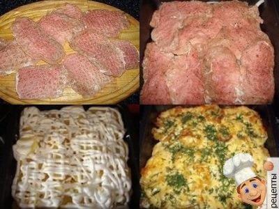 картошка со свининой по французски в духовке
