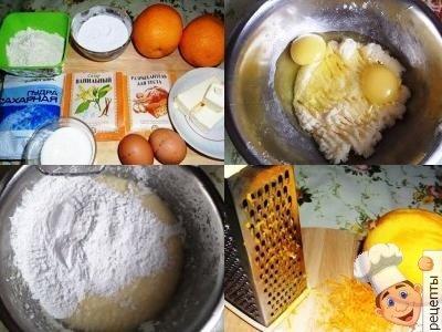 кекс с апельсиновой цедрой