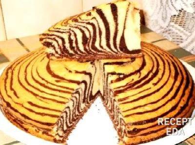 кекс зебра на сметане