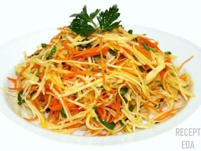 корейский салат из редьки с морковью