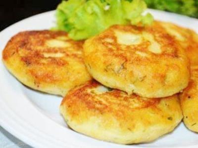 котлеты из картофельного пюре с зеленью