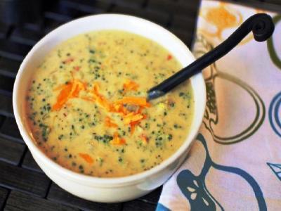 Крем суп из брокколи со сливками и сыром
