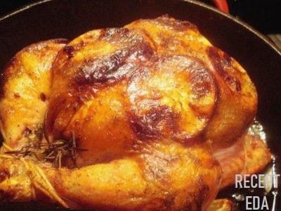 курица с лимоном в духовке целиком
