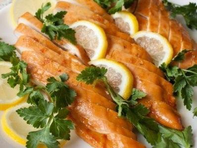 Курица с медом и лимоном, рецепт в духовке