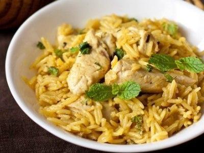 курица с рисом на сковороде