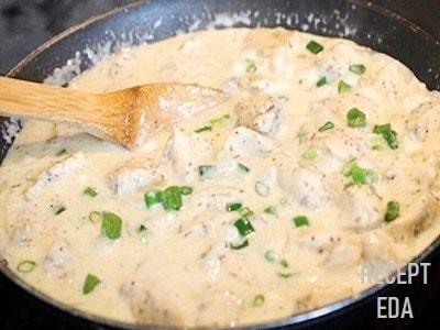 курица в кефире на сковороде