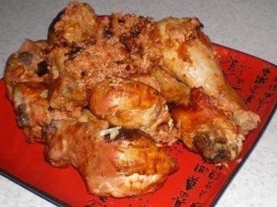курица голени жареные в соевом соусе