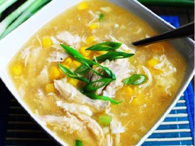 Куриный суп с кукурузой, рецепт
