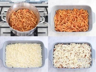 ленивая лазанья с макаронами и фаршем рецепт в духовке
