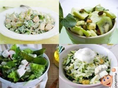 летние салаты. рецепты