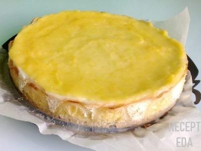 лимонный чизкейк из творога без выпечки