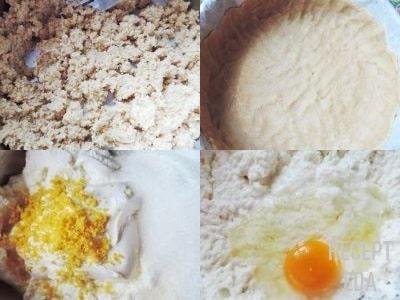 лимонный чизкейк с творогом и печеньем