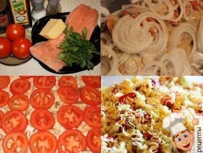 лосось с помидорами и сыром в духовке
