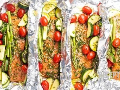 лосось в духовке с овощами рецепт