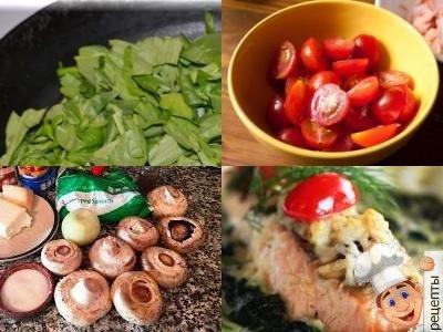лосось запеченный с помидорами