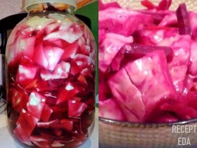 Маринованная капуста с свеклой, рецепт